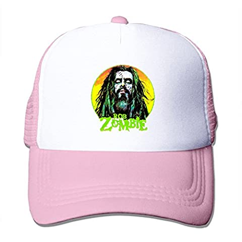 LIANBANG Rob Zombie Adjustable Printing Mesh Cap Unisex Adult Sun Visor Baseball Mesh Hat - Pink (Educated Horses Vinyl)