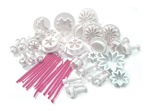 New 47pcs Cake Decoration Mold Tools Set Sugarcraft Icing Cutters Plungers from Unknown
