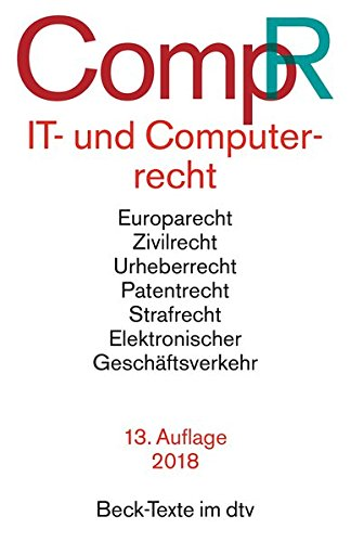 Computerrecht: Textausgabe mit Sachregister (Beck-Texte im dtv) (German Edition)