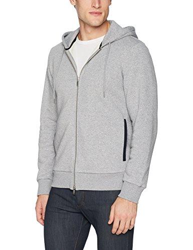 Theory Men's Fleece Front Zip Hoodie, Pebble Melange, M ()