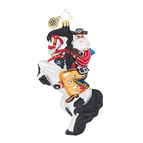 Rodeo Christmas Ornament (Christopher Radko Rodeo Showman Santa Christmas Ornament)
