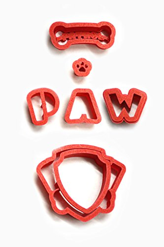 Hiding - place Paw Patrol Logo Cookie Cutter Set, choose 2, 3, 4, 5.5, 7, 9, 11 by (3 inches) - Paw Cookie Cutter