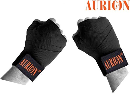 Aurion Boxing-Hand-wrap-Black Cotton Boxing/Punching Hand Wraps, 3 Meter (Black) Price & Reviews