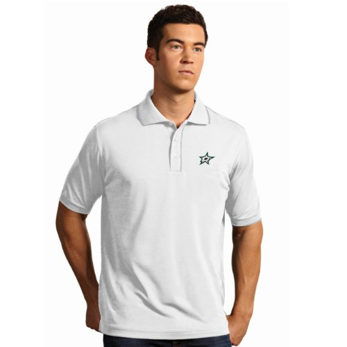- NHL Dallas Stars Men's Elite Xtra Lite Polo, White/Silver, XX-Large