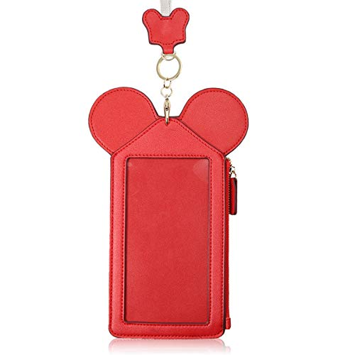 Shape Card Holder (Neck Pouch, Charminer Women Cute Animal Shape Lanyard Phone Purse Neck Bag Travel Documents, Card Holder Coin Purse Neck Bag for 4.7/5.5in Phones Red 5.5in)