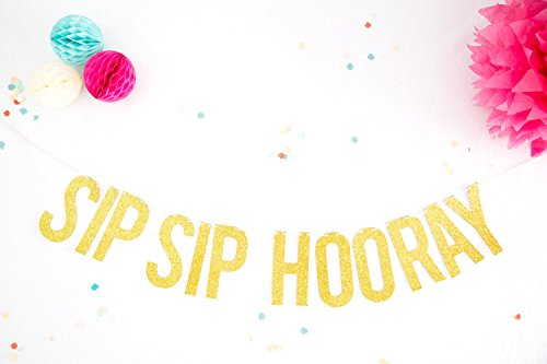 Glitter Party Garland Sip Sip Hooray Gold Glitter Party Banner