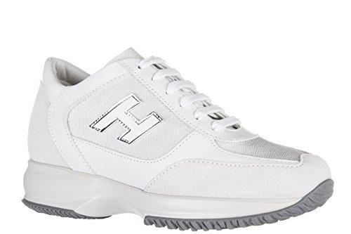 Hogan chaussures baskets sneakers femme en daim interactive h flock blanc