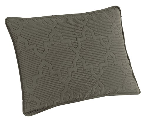 Brielle Casablanca, Reversible Standard Sham Set, Navy/Dark Grey (Shells Standard Sham)