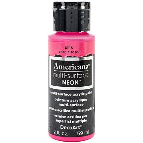 DecoArt Americana Multi-Surface Neon Paint, 2-Ounce, Pink