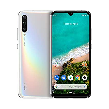 Xiaomi Mi A3 64GB + 4GB RAM, Triple Camera, 4G LTE Smartphone - International Global Version (More Than White)