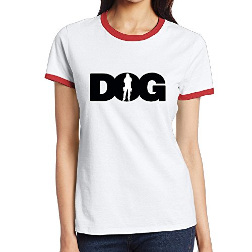 Ringer Contrast - Girls Dog The Bounty Hunter Short Sleeve Contrast Ringer Tee Shirts