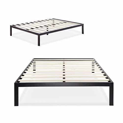 California King Bed (Zinus Modern Studio 14 Inch Platform 3000 Metal Bed Frame / Mattress Foundation / no Boxspring needed / Wooden Slat Support / Good Design Award Winner, Cal King)