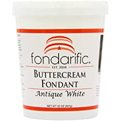 Fondarific Buttercream Antique White Fondant, 2-Pounds