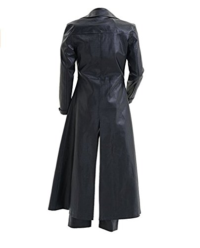 TISEA Men's Resident Cosplay Costume PU Leather Jacket Coat (Male S, Black Coat) by TISEA (Image #1)'