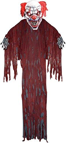 Forum Novelties Hanging Clown for Party Decoration, 12-Feet, (12 Foot Hanging Halloween Props)