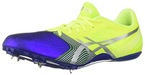 (ASICS Men's Hypersprint 6 Track And Field Shoe,Flash Yellow/Silver/Deep Blue,12 M US)