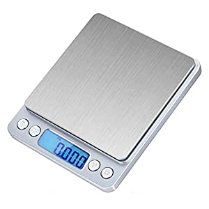 Ticent 500g/0.01g Digital Pocket Scale, Stainless Steel Jewelry & Kitchen food Scale, 0.001oz Resolution