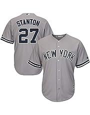 Personalizada Camiseta Deportiva Baseball Jersey Major League Baseball # 27 Stanton New York Yankees