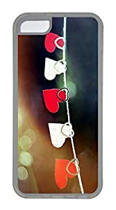 iPhone 5C Case, Customized Protective Soft TPU Clear Case for iphone 5C - Drying Love Cover