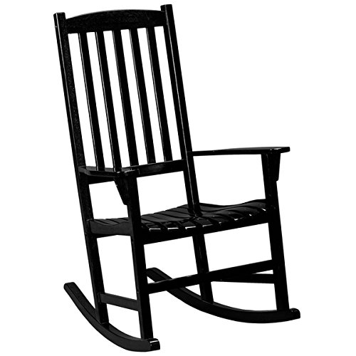 Harper Blvd Corbin Black Porch Rocker, Arm rests for added support by Harper Blvd