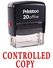 Printtoo CONTROLLED COPY Self Inking Rubber Stamp Office Stationary Custom Stamp-Red