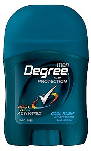Degree Men Ultra Dry Invisible Stick Anti-Perspirant & Deodorant, Cool Rush 0.5 oz (Pack of 7) by Degree