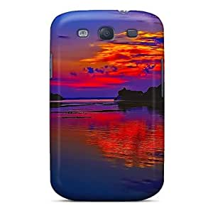 EnhMPKt4003NZWAo Tpu Phone Case With Fashionable Look For Galaxy S3 - Red Sky At Dawn