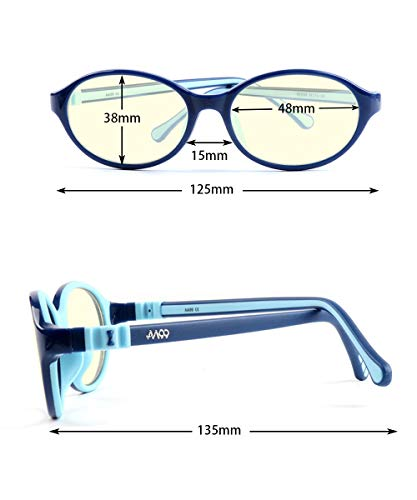 AA99 Kids Blue Light Blocking Glasses Boys and Girls (3 to 10) Soft Frame Anti Digital Eyestrain Glare UV Protection…