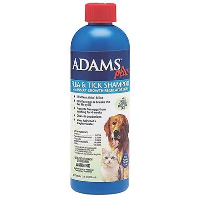 Adams Flea & Tick Shampoo For Any Age Dogs Or Cats 12 Oz
