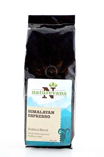 Himalayan Espresso Whole Coffee Bean (Medium Roast - 200g Bag), Rich Aroma and Strong Flavor, Rich Espresso Crema, Single Origin Arabica Blend, Natural and Organic Growth, Quality Packaging