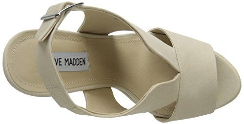 Steve Madden Mujer Xander Sandalias de cuña crema