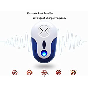 Ultrasonic Pest Repellent - Electronic Pest Control With Enhanced Ultrasonic Frequency-Pest Repeller for Mice , Roaches , Rat, Ants, Bugs , fleas , Mosquitoes , Spiders,Human & Pet Safe(6 Packs)