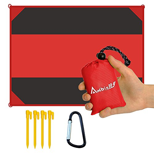 Ambielly Beach Blanket Waterproof Sand-proof Outdoor Blanket Portable Oversized <84.6x63> Picnic Mat for Travel,Camping,Hiking,Beach and Music Festivals