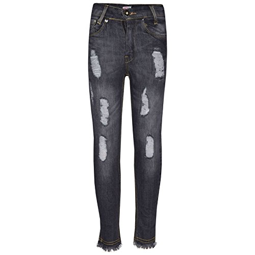 Girls Skinny Jeans Kids Stretchy Denim Ripped Rough Pants Trousers Jeggings 5-13 by A2Z 4 Kids (Image #3)