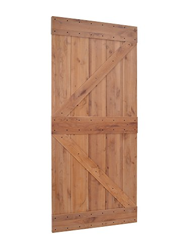 Primed Knotty Alder Sliding Wood Solid Core Barn Interior Door (Alder Wood Doors)