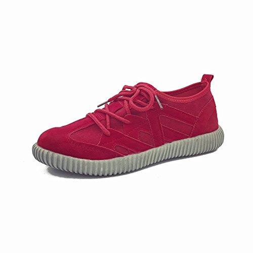 Casuales Plano de Deportivos Zapatos EUR37 Transpirables Estudiantes Calzar Los a para Ayudar Zapatos Zapatos Bajos Y rojo de Femeninos Mujer Ligeros con a Los Fondo v04qwd4x