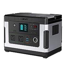 suaoki ポータブル電源 G500 137700mAh/500Wh 家庭用蓄電池 PSE認証済み 純正弦波 液晶大画面表示 三つの充電方法 ソーラー充電 ACコンセント(300W 瞬間最大600W) DC/USB/Type-Cなど出力