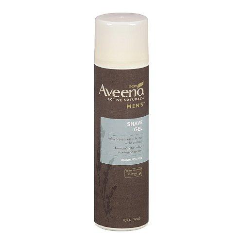 Aveeno Men's Shave Gel, Fragrance Free 7 oz (198 g)