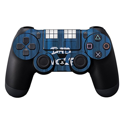 MightySkins Skin for Sony PS4 Controller - Time Lord Box | Protective, Durable, and Unique Vinyl Decal wrap Cover | Easy to Apply, Remove, and Change Styles | Made in The USA