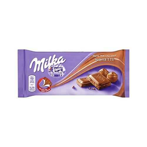 Milka Noisette Avellanas 100 G De Chocolate Con Leche - Paquete de 4: Amazon.es: Alimentación y bebidas