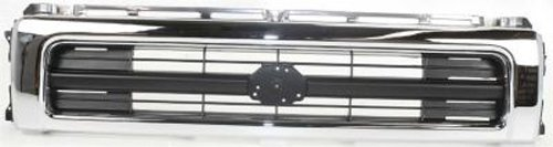 CPP Center Chrome Shell w/ Black Insert Grille Assembly for 1992-1995 Toyota Pickup