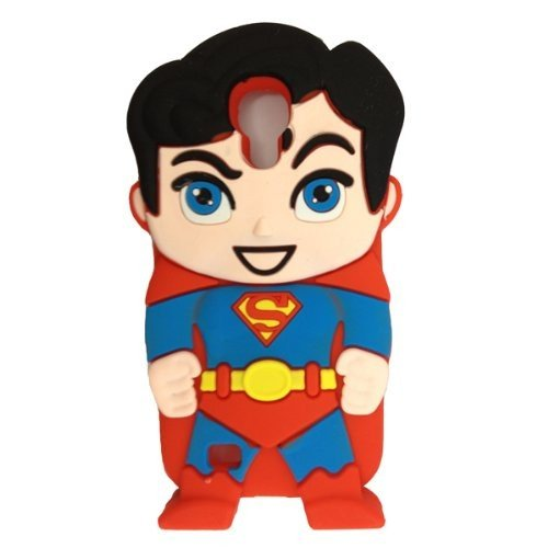 ML® Cute Cartoons 3D Silicone Case Back Cover Skin For Samsung Galaxy S4 i9500 & i9505 (SuperMan S4)