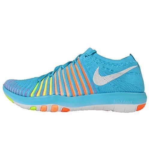 Nike Womens Wmns Free Transform Flyknit, GMM BLUE/WHITE-TOTAL ORANGE-PUNCH CRIMSON, 8 US