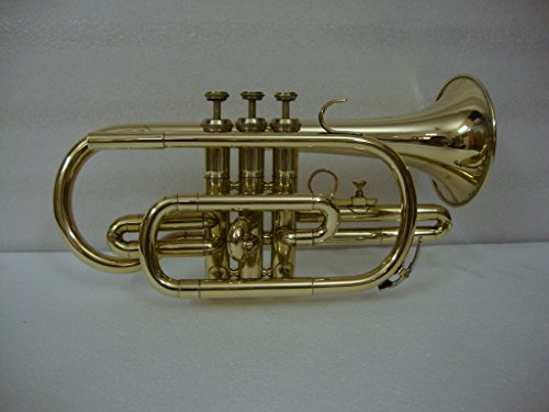OSWAL Bb Flat Brass Finishing Cornet Trumpet With Free Hard Case+M/P by OSWAL