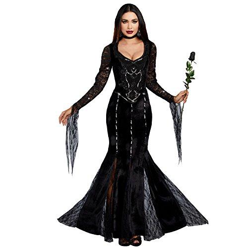 Dreamgirl Women's Frightfully Beautiful, Black, XL (Dreamgirls Outfits)