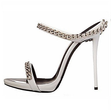 Leatherette amp; Stiletto UK6 Silver Dress Summer EU39 amp; Heel Evening Career US8 Fall Women's Spring Office CN39 FYios Party wnHT7YIgqx