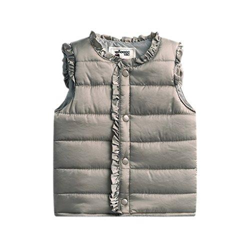 Acvip Fille manteaux Jacket Boutons Sans Kaki Enfant gilets Couleurs Blouson Manche Avec 8 Doudoune Dentelle 4rqC4a5xw