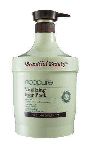 Ecopure Healthy - ECOPURE VITALIZING HAIR PACK 1000ml - NATURAL ORIGIN INGREDIENTS 86.7%