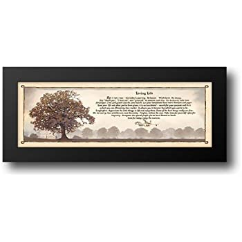 Amazon.com: Living Life 22x10 Framed Art Print by Mohr, Bonnie ...