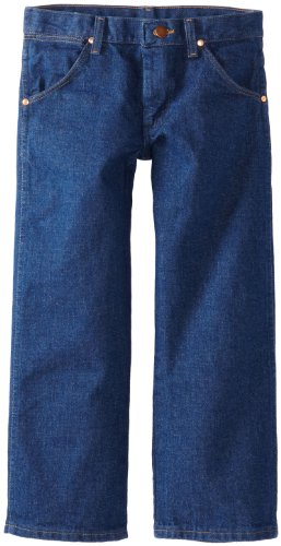 Wrangler Boys' Cowboy Cut Relaxed Fit Jean, Prewashed Indigo Denim, 8 Husky